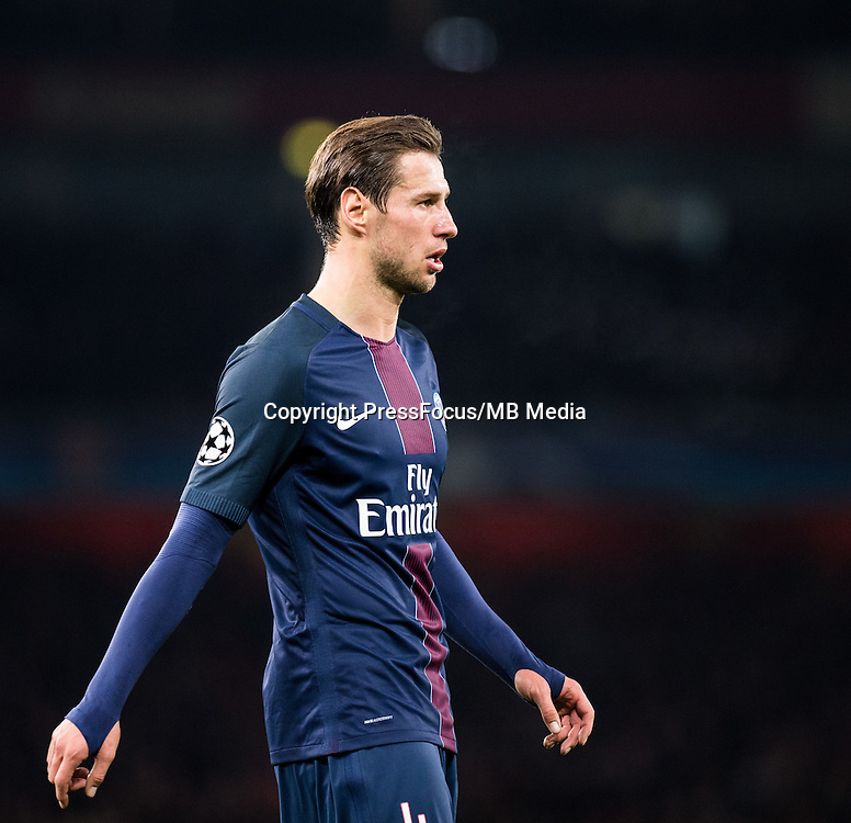 2016.11.23.London<br /> Pilka Nozna Liga Mistrzow sezon 2016/2017<br /> Arsenal vs Paris Saint-Germain<br /> n/z Grzegorz Krychowiak<br /> foto Sebastain Frej / PressFocus <br /> <br /> 2016.11.23.London<br /> Football UEFA Champions League <br /> season 2017/2017<br /> Arsenal vs Paris Saint-Germain<br /> n/z Grzegorz Krychowiak<br /> foto Sebastain Frej / PressFocus