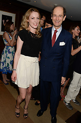 EMMA WIGAN and AMEDEO CLAVARINO at a party to celebrate Ben Goldsmith guest-editing the July/August 2013 edition of Spears Magazine held at 45 Park Lane, London on 19th June 2013.