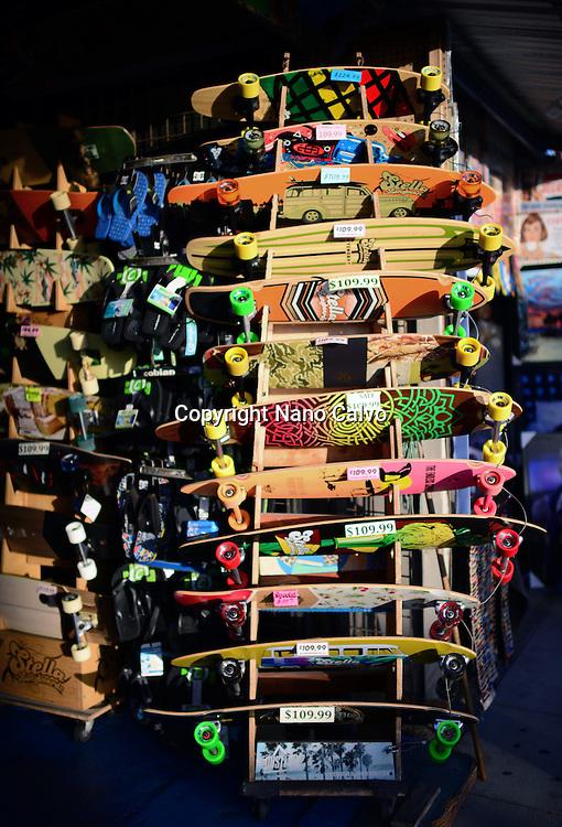 Skateboard shop in Venice Beach, California.