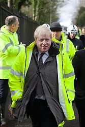 Mayor of London Boris Johnson visits Kenley water treatment centre,  Kenley, Croydon, United Kingdom, Tuesday, 11th February 2014. Picture by Daniel Leal-Olivas / i-Images
