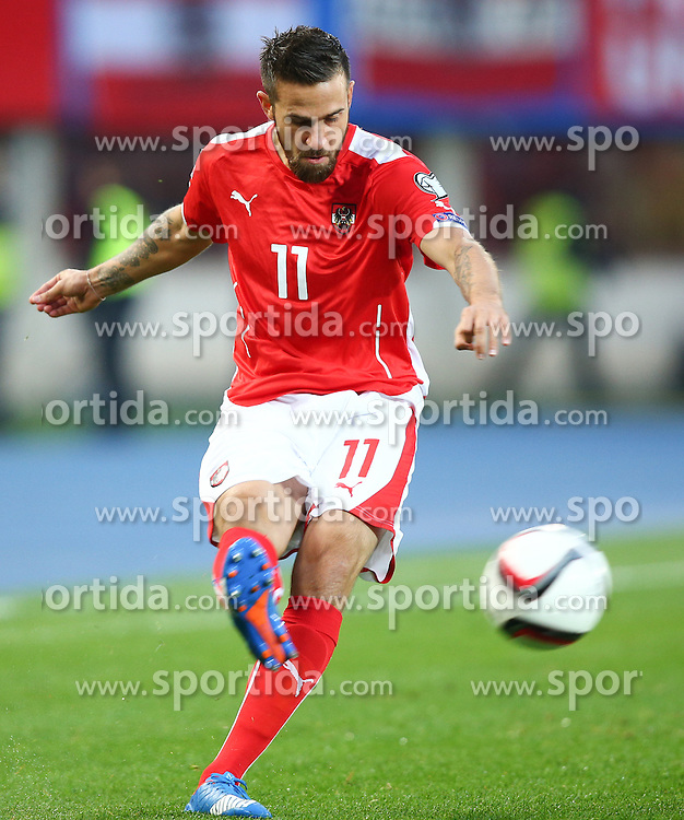 12.10.2015, Ernst Happel Stadion, Wien, AUT, UEFA Euro 2016 Qualifikation, Oesterreich vs Liechtenstein, Gruppe G, im Bild Martin Harnik (AUT) // during the UEFA EURO 2016 qualifier group G between Austria and Liechtenstein at the Ernst Happel Stadion, Vienna, Austria on 2015/10/12. EXPA Pictures © 2015, PhotoCredit: EXPA/ Thomas Haumer