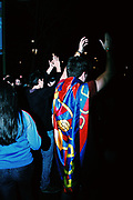Fans of the football club FC Barcelona are celebrating the victory over Real Madrid. Barcelona beat Madrid with 3:2. The game is the duel of the two best clubs in Spain and is called Èl Clásico. Fans gathered at the famous bouldvard Las Ramblas after the victory to celebrate the team.
