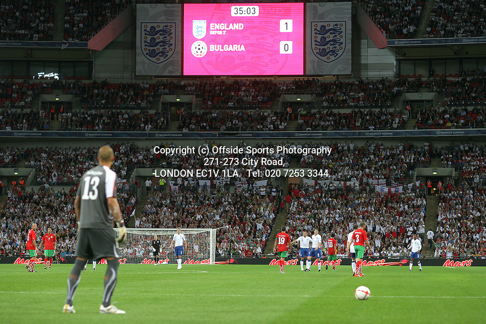03/09/2010 International football. England v Bulgaria.<br /> General view of Wembley during the match.<br /> Photo: Mark Leech.