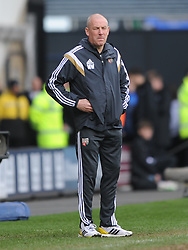 Mark Warburton Manager Brentford, Derby County v Brentford, Sy Bet Championship, IPro Stadium, Saturday 11th April 2015. Score 1-1,  (Bent 92) (Pritchard 28)<br /> Att 30,050