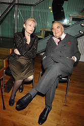 LADY EDEN and LORD WEIDENFELD at the Orion Authors Party held at the Royal Opera House, Covent Garden, London on 11th February 2008.<br />