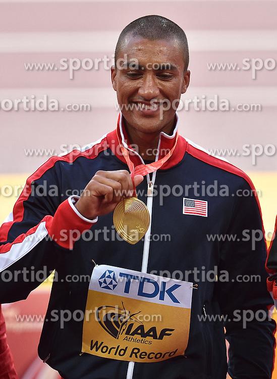 29-08-2015 CHN: IAAF World Championships Athletics day 8, Beijing<br /> Ashton Eaton USA  heeft  zijn eigen wereldrecord punten op de tienkamp verbeterd, 9045<br /> Photo by Ronald Hoogendoorn / Sportida