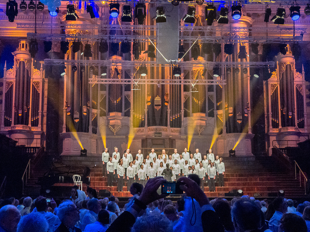 Sydney, Australia, Town Hall -- February 17, 2018.  Australian Girls Choir puts on a magnificent performance at Sydney Town Hall during a Crystal sponsored event. Editorial Use Only.