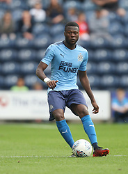 Chancel Mbemba of Newcastle United in action - Mandatory by-line: Jack Phillips/JMP - 22/07/2017 - FOOTBALL - Deepdale - Preston, England - Preston North End v Newcastle United - Pre-Season Club Friendly