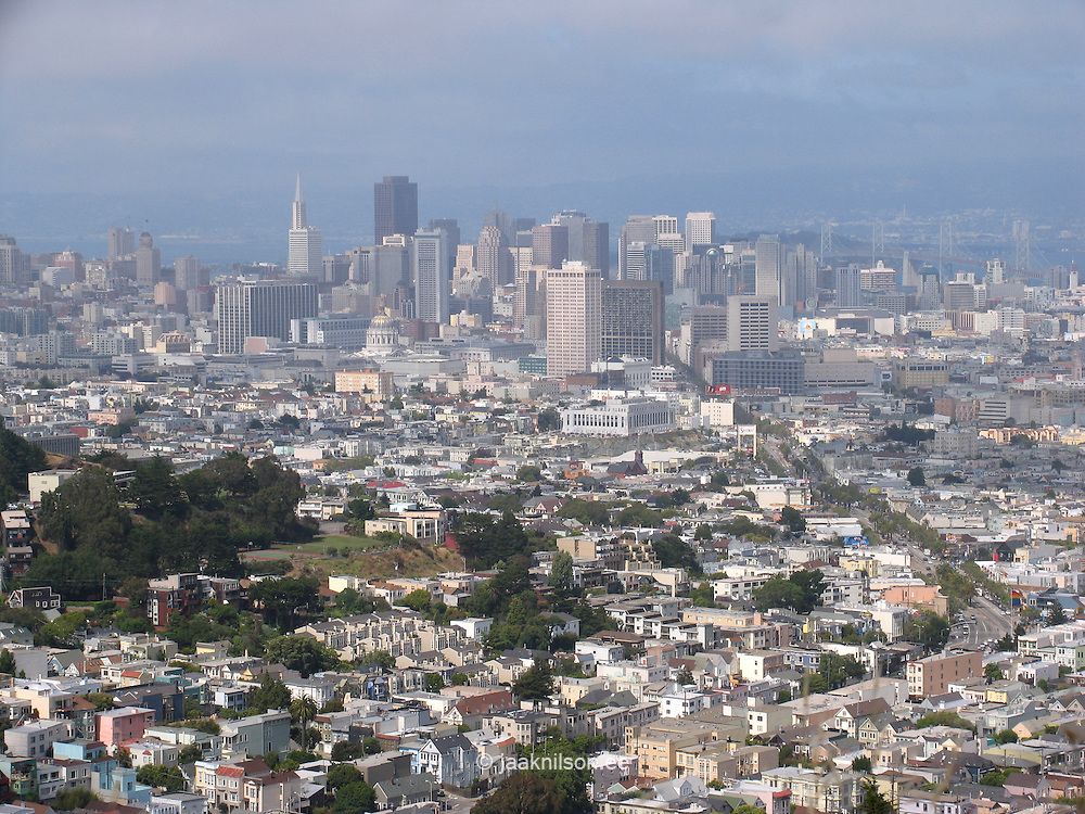 View from Twin Peaks, San Francisco, California, USA