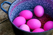 red hard boiled eggs (dyed with beetroot) a good start for Easter eggs (dyed with beetroot) This image has a restriction for licensing in Israel