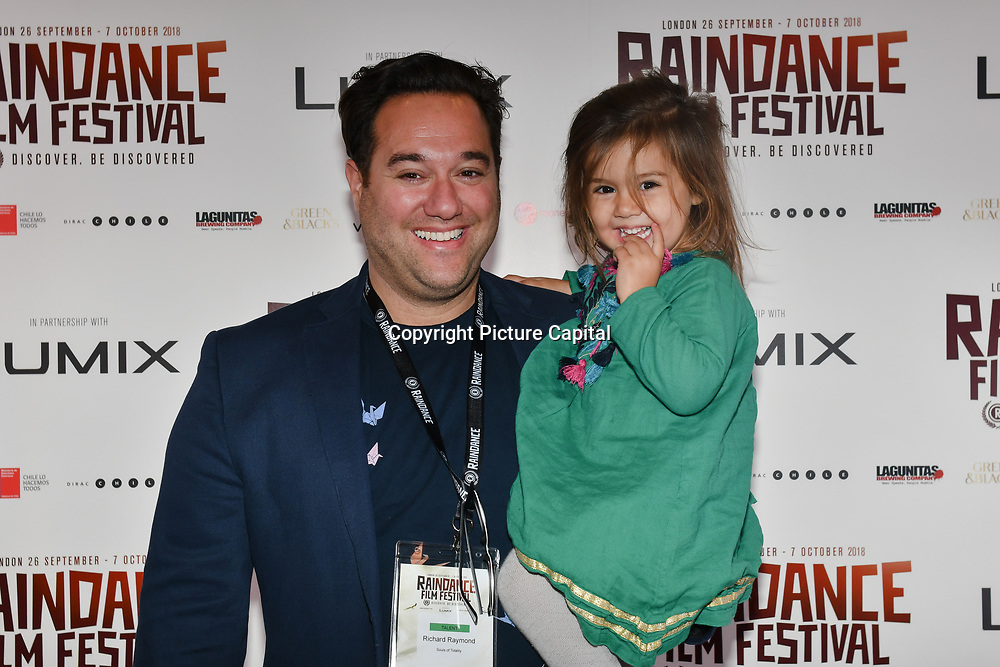 Director Richard Raymond and daughter attend 'Souls of Totality' film at Raindance Film Festival 2018, London, UK. 30 September 2018.