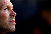 Atletico Madrid's Argentinian coach Diego Simeone reacts during the Spanish Championship Liga football match between Atletico de Madrid and Real Sociedad on December 2, 2017 at the Wanda Metropolitano stadium in Madrid, Spain - Photo Benjamin Cremel / ProSportsImages / DPPI