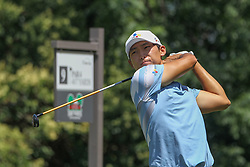 May 26, 2018 - Fort Worth, TX, U.S. - FORT WORTH, TX - MAY 26: Whee Kim (USA) hits from the 9th tee during the third round of the Fort Worth Invitational on May 26, 2018 at Colonial Country Club in Fort Worth, TX. (Photo by George Walker/Icon Sportswire) (Credit Image: © George Walker/Icon SMI via ZUMA Press)