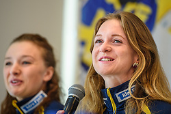 March 15, 2019 - –Stersund, Sweden - 190315 Mona Brorsson of Sweden at a press conference with the Swedish Biathlon team during the IBU World Championships Biathlon on March 15, 2019 in Östersund..Photo: Petter Arvidson / BILDBYRÃ…N / kod PA / 92267 (Credit Image: © Petter Arvidson/Bildbyran via ZUMA Press)