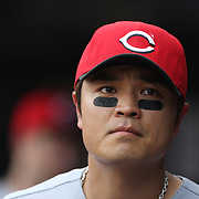South Korean Shin-Soo Choo, Cincinnati Reds, during the New York Mets V Cincinnati Reds Baseball game at Citi Field, Queens, New York. 22nd May 2012. Photo Tim Clayton