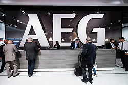 Entrance to AEG corporate area at at 2016  IFA (Internationale Funkausstellung Berlin), Berlin, Germany