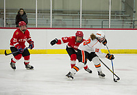 St Paul's School girls varsity hockey versus Kimball Union.  ©2018 Karen Bobotas Photographer