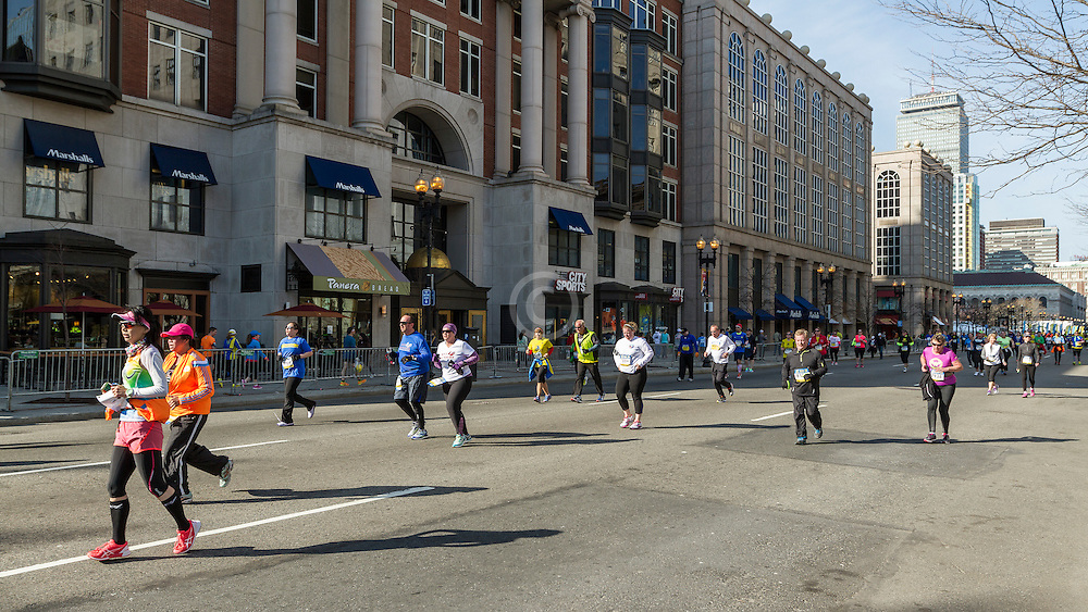 BAA 5K, participants on Boylston Street
