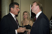 BARON AND BARONESS VON STUMM AND JASON WOODHARD. Adam Dant: The Art of Hedge. Robilant and Voena Gallery. Dover st. London. 12 November 2007. -DO NOT ARCHIVE-© Copyright Photograph by Dafydd Jones. 248 Clapham Rd. London SW9 0PZ. Tel 0207 820 0771. www.dafjones.com.