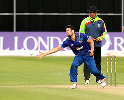 Gloucestershire's Benny Howell tries to stop the ball - Mandatory by-line: Robbie Stephenson/JMP - 07966386802 - 04/08/2015 - SPORT - CRICKET - Bristol,England - County Ground - Gloucestershire v Durham - Royal London One-Day Cup