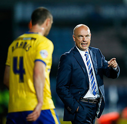 Manager Uwe Rosler of Wigan instructs Ivan Ramis - Photo mandatory by-line: Rogan Thomson/JMP - 07966 386802 - 16/09/2014 - SPORT - FOOTBALL - Huddersfield, England - The John Smith's Stadium - Huddersfield Town v Wigan Athletic - Sky Bet Championship.