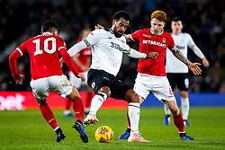 Michael Hefele of Nottingham Forest takes on Jack Colback of Nottingham Forest - Mandatory by-line: Robbie Stephenson/JMP - 17/12/2018 - FOOTBALL - Pride Park Stadium - Derby, England - Derby County v Nottingham Forest - Sky Bet Championship