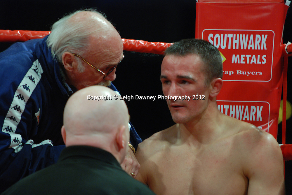 Steve Williams defeats Kirk Goodings in a 12x3 Light Welterweight contest on the 30th November 2012 at Aintree Equestrian Centre, Aintree, Liverpool. Frank Maloney Promotions. Pictures by Leigh Dawney. ©leighdawneyphotography 2012.