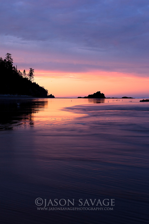 Sunrise on Ruby Beach. Olympic National Park , Washington.