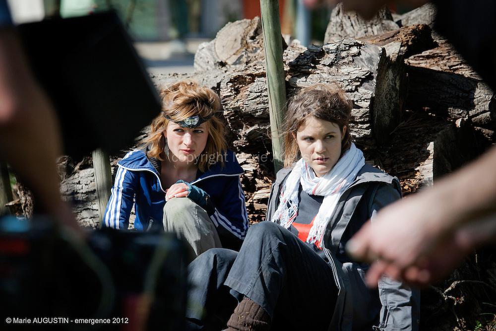 Anne-Lise GUILLET et Prune BEUCHAT, comédiennes - tournage scène imposée de Guilhem AMESLAND - emergence 2012