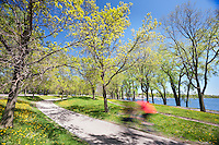 Springtime along the paths of Lake Calhoun in Minneapolis, Minnesota.