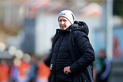 MERTHYR, WALES - Thursday, February 16, 2017: Wales' manager Jayne Ludlow during a Women's Under-17's International Friendly match against Hungary at Penydarren Park. (Pic by Laura Malkin/Propaganda)