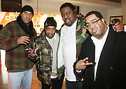 l to r: Dap, Cool V, Biz Markie, and Teddy Ted at the Common Celebration Capsule Line Launch with Softwear by Microsoft at Skylight Studios on December 3, 2008 in New York City..Microsoft celebrates the launch of a limited-edition capsule collection of SOFTWEAR by Microsoft graphic tees designed by Common. The t-shirt  designs. inspired by the 1980's when both Microsoft and and Hip Hop really came of age, include iconography that depicts shared principles of the technology company and the Hip Hop Star.