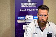 Luigi Datome<br /> Nazionale Italiana Maschile Senior<br /> Eurobasket 2017<br /> Conferenza Stampa<br /> FIP 2017<br /> Tel Aviv, 30/08/2017<br /> Foto Ciamillo - Castoria