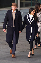 Meghan Markle and Prince Harry leave Millenium Point, Birmingham, UK. 08 Mar 2018 Pictured: Prince Harry and Megan Markle. Photo credit: Squirel/ MEGA TheMegaAgency.com +1 888 505 6342