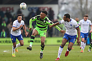 Forest Green Rovers Tahvon Campbell(25) controls the ball during the EFL Sky Bet League 2 match between Forest Green Rovers and Mansfield Town at the New Lawn, Forest Green, United Kingdom on 24 March 2018. Picture by Shane Healey.