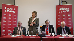 © Licensed to London News Pictures. 20/01/2016. London, UK. (L-R) Graham Stringer MP, Kate Hoey MP, party donor John Mills and Kelvin Hopkins MP help to launch the Labour Party's 'Labour Leave' EU referendum campaign.  A referendum on the United Kingdom's membership of the European Union may be held as soon as this summer.  Photo credit: Peter Macdiarmid/LNP