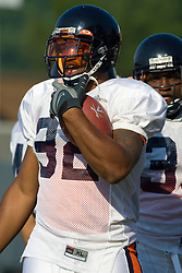 Virginia running back Keith Payne (32).  The Virginia Cavaliers football team during an open practice on August 16, 2008 at the University of Virginia's football turf field in Charlottesville, VA.