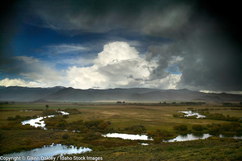 Silver Creek with clearing storm, Idaho