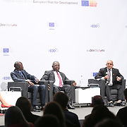 03 June 2015 - Belgium - Brussels - European Development Days - EDD - Trade - Trade for inclusive and sustainable growth -  James Madhier<br /> Future Leader - Luc Magloire Mbarga Atangana<br /> Minister for Trade, Cameroon - Ahmed Hamid<br /> Commissioner for Trade, Customs, Industry and Free Movement, Economic Community of West African States (ECOWAS) © European Union