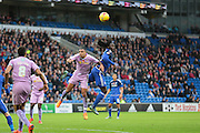 Reading defender Anton Ferdinand and Cardiff City forward Kenwyne Jones during the Sky Bet Championship match between Cardiff City and Reading at the Cardiff City Stadium, Cardiff, Wales on 7 November 2015. Photo by Jemma Phillips.