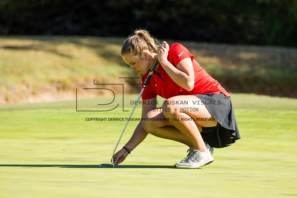 28 March 2018: The San Diego State women's golf team hosts it's annual March Mayhem Tournament at the Farms Golf Club in Rancho Santa Fe, California.<br /> More game action at sdsuaztecphotos.com