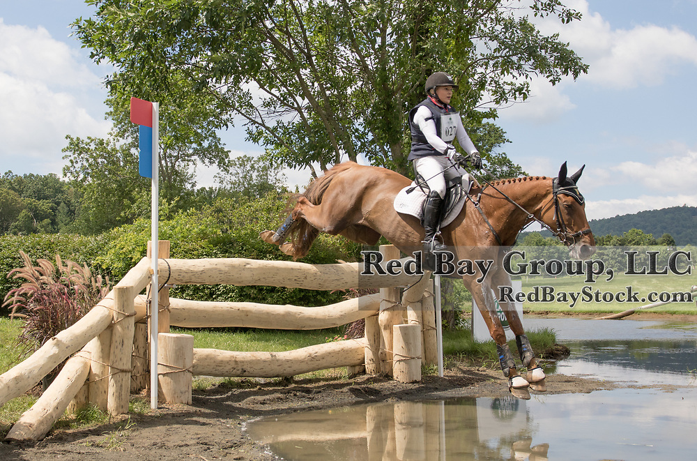 Marilyn Little riding RF Demeter competes in the Cross Country phase of the 2016 Land Rover Great Meadow International on Sunday, July 10, 2016, at the Great Meadow Foundation in The Plains, VA.
