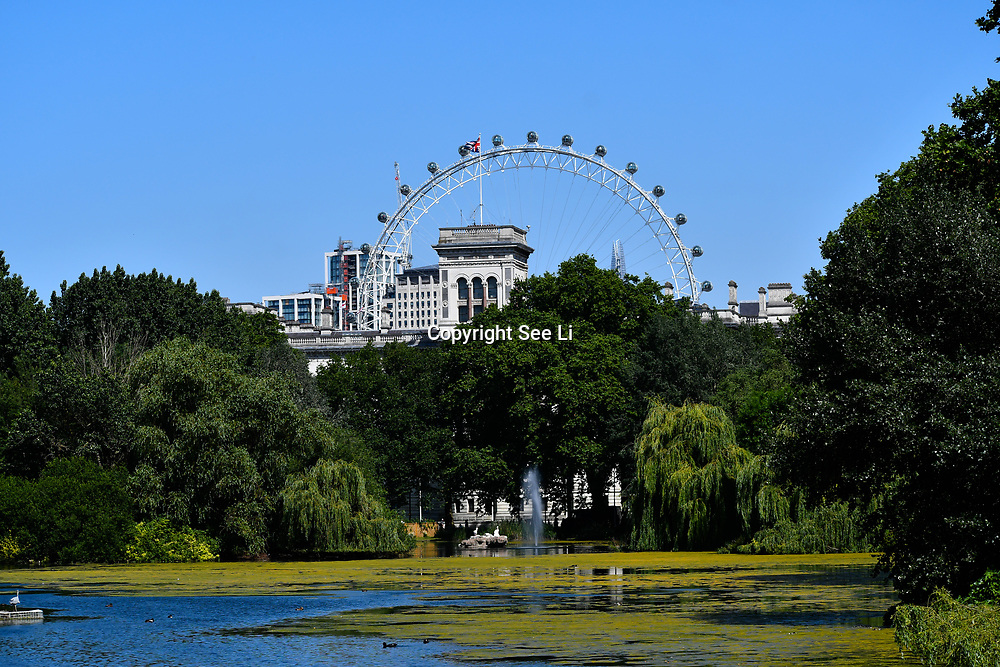 London, UK. 27 June 2019. UK Weather - People visiting the Hottest week in June 2019 at the Royal Park, London, UK