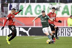 February 10, 2019 - Rennes, France - 23 ADRIEN HUNOU (REN) - 21 ROMAIN HAMOUMA  (Credit Image: © Panoramic via ZUMA Press)