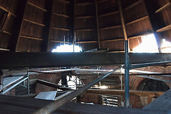 Clock Tower Interior. Fairfield County Courthouse GA 2 Renovations. Replace Roof and Masonry Repairs CT Dept of Public Works Project # BI-JD-305. Interim Progress Photography Shoot 4.5: 7 October 2011. Located on Golden Hill Streets in Bridgeport CT, this Richardsonian Romanesque style public building, was designed by Warren R. Briggs. Originally completed and opened in 1888 and has undergone several additions and expansions since.