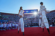 Opening ceremony of the Special Olympics World Games Los Angeles 2015 at the Los Angeles Coliseum Stadium on July 25, 2015 in Los Angeles, USA.<br /> USA, Los Angeles, July 25, 2015<br /> <br /> Picture also available in RAW (NEF) or TIFF format on special request.<br /> <br /> For editorial use only. Any commercial or promotional use requires permission.<br /> <br /> Adam Nurkiewicz declares that he has no rights to the image of people at the photographs of his authorship.<br /> <br /> Mandatory credit:<br /> Photo by &copy; Adam Nurkiewicz / Mediasport