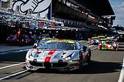 June 10-16, 2019: 24 hours of Le Mans. 54 SPIRIT OF RACE, FERRARI 488 GTE, Thomas FLOHR, Francesco CASTELLACCI,  Giancarlo FISICHELLA , morning warmup