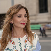 Olga Vilshenko is a designer arrives at V&A - summer party, on 19 June 2019, London, UK