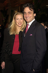 Model KATRINA SKEPPER and her husband COUNT ALLESANDRO GUERRINI-MARALDI, at a reception in London on 10th November 2000.OIY 42