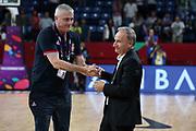 Giovanni Petrucci, Predrag Sasha Danilovic<br /> Nazionale Italiana Maschile Senior<br /> Eurobasket 2017 - Final Phase - 1/4 Finals<br /> Italia Serbia Italy Serbia<br /> FIP 2017<br /> Istanbul, 13/09/2017<br /> Foto M.Ceretti / Ciamillo - Castoria